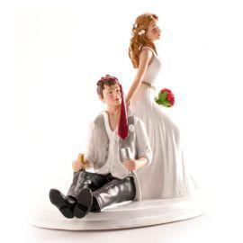 Statuetta Sposi che Bevono 14 cm