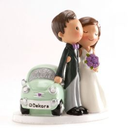 Statuetta Sposi Just Married 12 cm