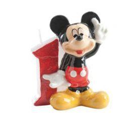 Candelina Nº 1 Mickey Mouse 6,5 cm
