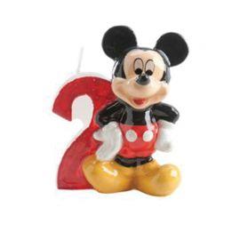 Candelina Nº 2 Mickey Mouse 6,5 cm