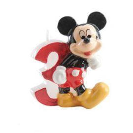 Candelina Nº 3 Mickey Mouse 6,5 cm