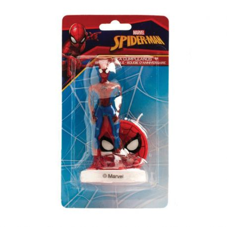 Candela di Compleanno Spiderman 9 cm 3D