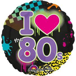 Palloncino I Love Anni 80 di Foil