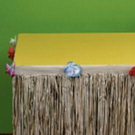 Gonnellina Tropicale per il Tavolo 3 m x 73, 6 cm