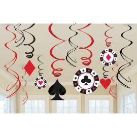 12 Decorazioni Pendenti Casinò Carte