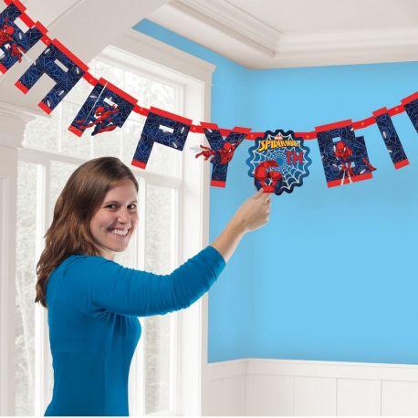 Ghirlanda SpiderMan Happy Birthday