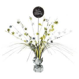 Centro Tavola Elegante Oro Happy Birthday 33 cm