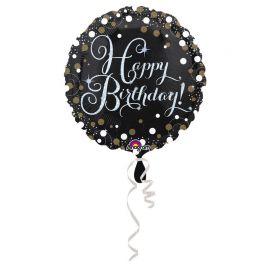 Palloncino Happy Birthday Elegante Oro Foil