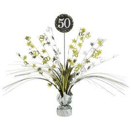 Centrotavola Elegant 50 Anni 33 cm