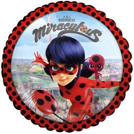 Palloncino Ladybug Foil Rotondo