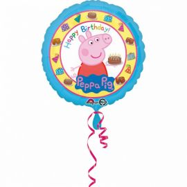 Palloncino Peppa Pig Happy Birthday di Foil
