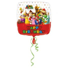 Palloncino Super Mario Bros Happy Birthday