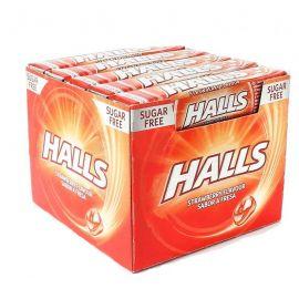 Caramelle Halls alla Fragola Senza Zucchero 20 pacchetti