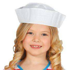 Cappello da Marinaio Bianco per Bambini