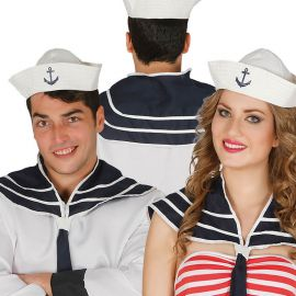 Set di Sciarpa e Cappello da Marinaio con Ancora