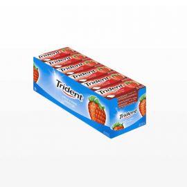 Gomme da Masticare Trident Fruit alla Fragola 24 Pacchetti