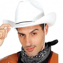 Cappello da Cowboy Bianco in Feltro