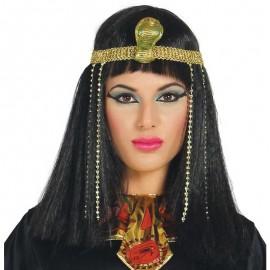 Peluca de Egipcia con Dije de Serpiente