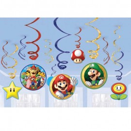 12 Decorazioni Appese Super Mario