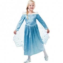 Costume di Elsa con Mantello Corto Bambina