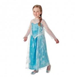 Costume di Elsa con Mantello Lungo Bambina