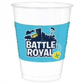 8 Bicchieri Battle Royal di Plastica 473 ml