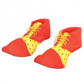 Zapatos Payaso Amarillo y Rojo 36 cm