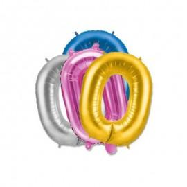 Palloncino Numero 0 Foil 35 cm