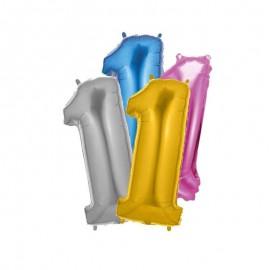 Palloncino Numero 1 Foil 35 cm