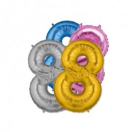 Palloncino Numero 8 Foil 35 cm