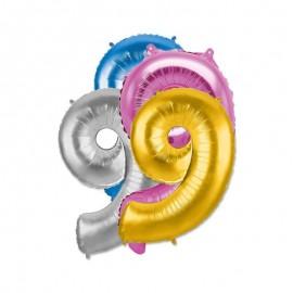 Palloncino Numero 9 Foil 35 cm