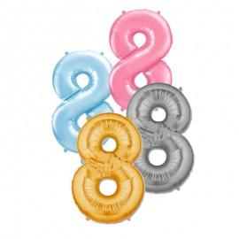 Palloncino Numero 8 Foil 86 cm