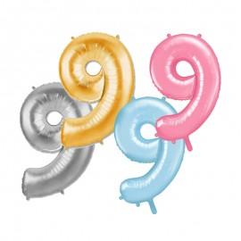 Palloncino Numero 9 Foil 86 cm