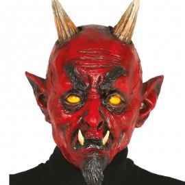 Máscara demonio con Perilla de Látex
