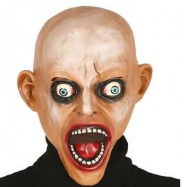 Máscara Zombie Calvo Asustado de Látex