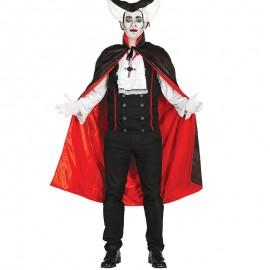 Capa Negra con Forro Rojo 115 cm