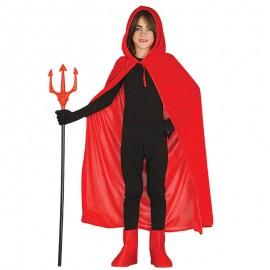 Capa Roja con Capucha Terciopelo Infantil 100 cm