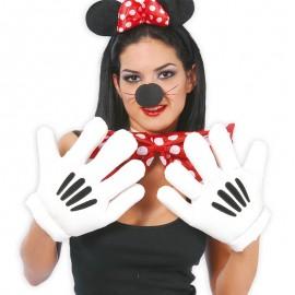 Manos de Ratón Blanco y Negro
