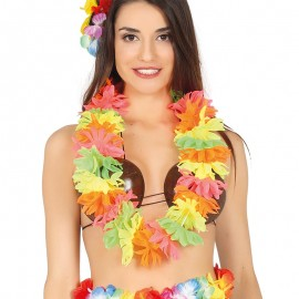 Collana Hawaiana Multicolor Fluo