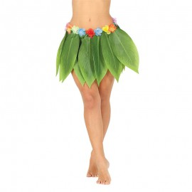 Gonna Hawaiana con Foglie 38 cm