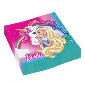20 Tovaglioli Barbie 33 cm