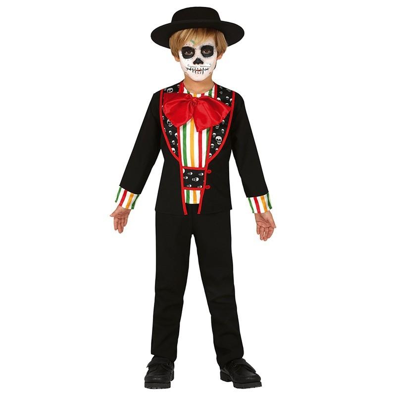 Carry Me giorno dei morti Adulti Costume Messicano Teschio da Uomo Costume Di Halloween