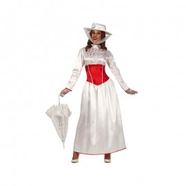 Costume Mary Poppins Bianco Donna
