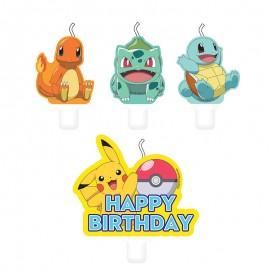 4 Mini Candele Pokémon 5.5 x 7.8 cm