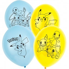 6 Palloncini Pokémon in Lattice 28cm