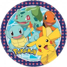 8 Piatti Pokémon Carta Rotondi 22.8 cm