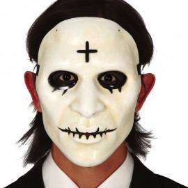 Maschera Bianca con Croce Uomo