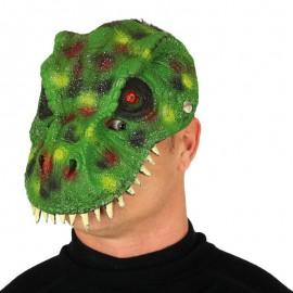 Maschera Dinosauro Verde Foam