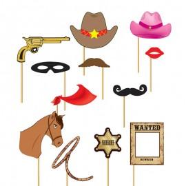 Set Photocall Cowboy 12 Pz