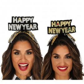 Cerchietto Happy New Year Argento e Oro